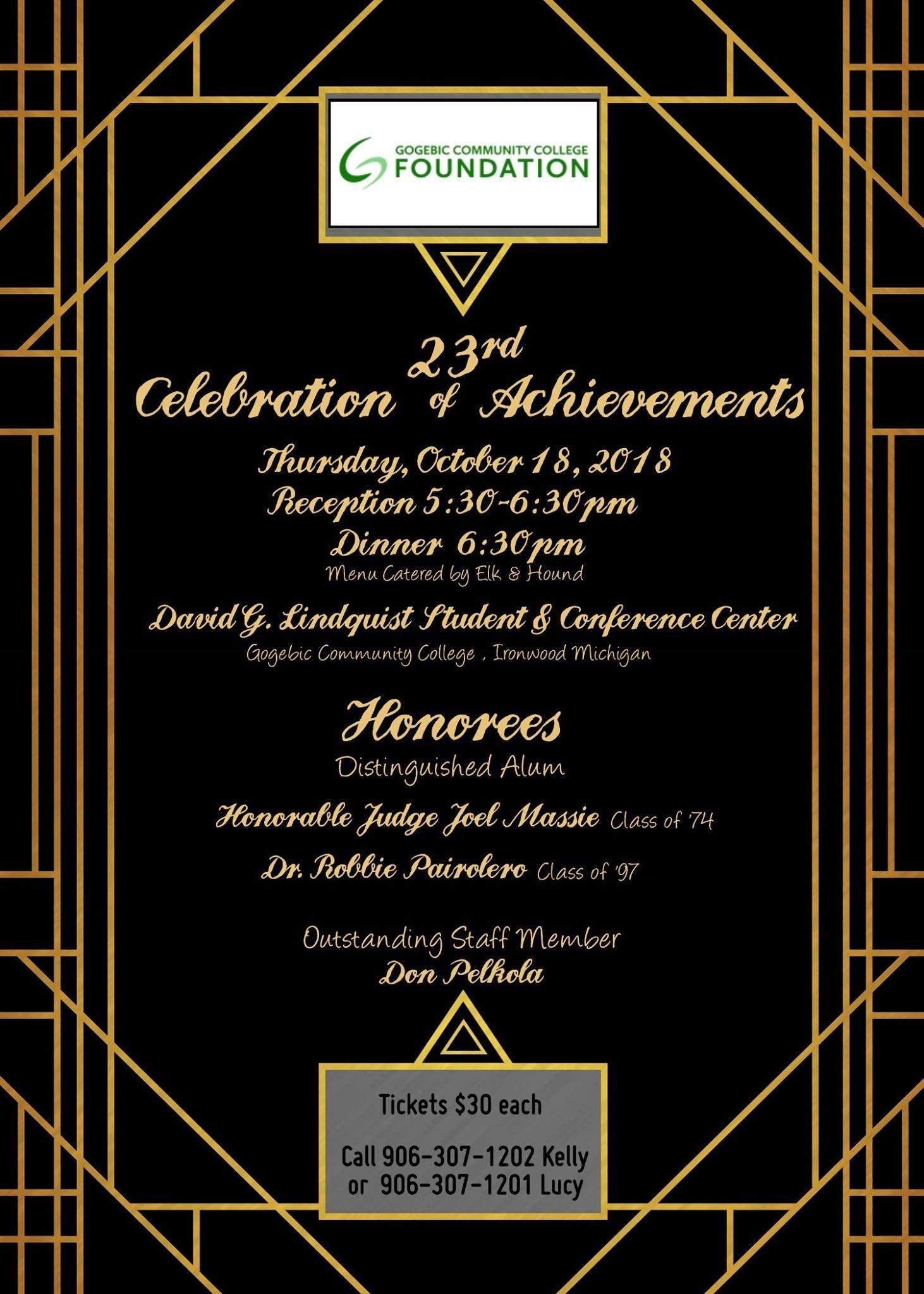 GCC Foundation 23rd Annual Celebration of Achievements Banquet - FeLiveLife  - Gogebic & Iron County Event Calendar
