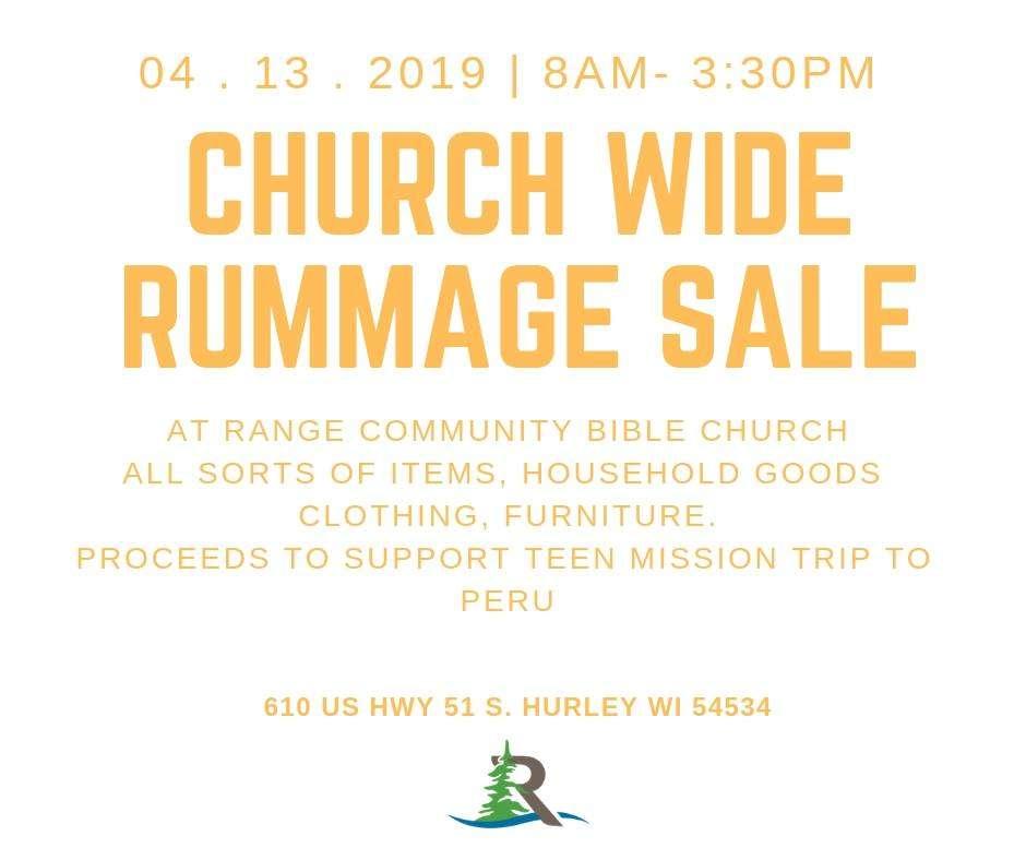 Rummage Sale - FeLiveLife - Gogebic & Iron County Event Calendar